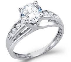 cz engagement ring astounding 14k white gold cz engagement rings 61 on design