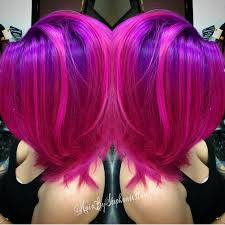 Brighter Pink Fuchsia Pink Hair And Purple Hair Color By Stephanie Rose Www