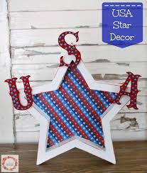 a glimpse inside usa patriotic star decor the ultimate blog hop