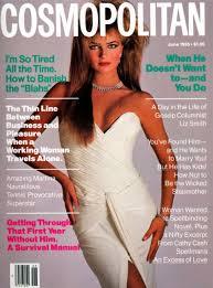 cosmopolitan cosmopolitan magazine june 1985 model paulina korizkova