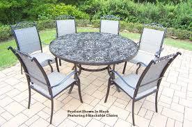 60 Patio Table Cascade 7 Pc Patio Dining Set 60 Table 2205t 10605 7 Sale