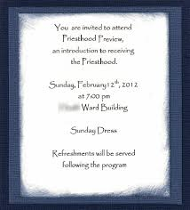 priesthood preview invitation and program outline primary