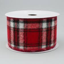 and black plaid ribbon 2 5 flannel plaid ribbon black white 10 yards rg01082