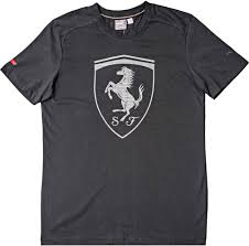 ferrari logo black and white puma 570681 01 ferrari big shield logo mens t shirt black grey