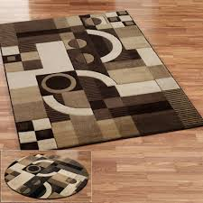 modern round area rugs amazoncom 1052 brown 6 u00275x6 u00275 area rugs