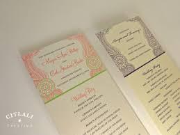 tea length wedding programs henna mehndi tea length wedding ceremony programs citlali