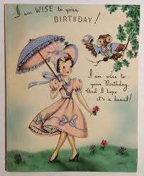pretty pink dress startled by talking owl vintage birthday