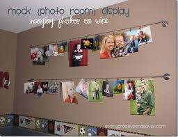 hanging pictures with wire and clips photo display wire with clips mock photo room display hanging