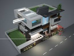 3d front elevation com contemporary indian house plans modern