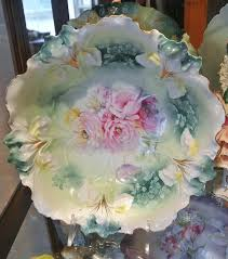 rs prussia bowl roses rs prussia porcelanas prussia wreaths and bowls