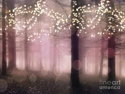 sparkling fairytale trees nature pink woodlands
