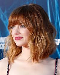 lob shag hairstyles beauty and skincare emma stone hairstyles shag hairstyles and