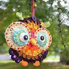 ravelry autumn owl ornament pattern by vendula maderska