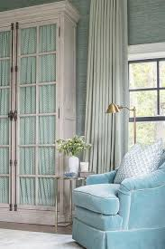 Velvet Curtain Club Blue Velvet Club Chair With Green Curtains Cottage Bedroom