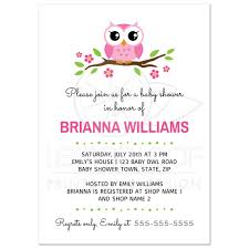 owls baby shower pink owl baby shower invitation