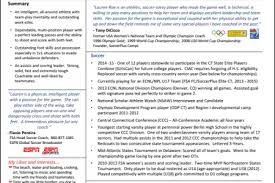 Sample Athletic Resume soccer athlete resume examples reentrycorps
