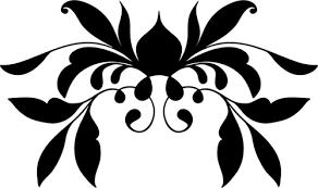 black flourish ornament domain vectors