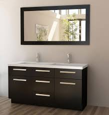 Bathroom Counter Shelves by Double Sink Vanity 60 Inch Grey Stained Vanity Shelves Standing