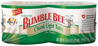 bumble bee chunk light tuna ewg s food scores bumble bee chunk light tuna in water