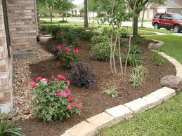 Backyard Flower Bed Ideas Triyae Com U003d Backyard Landscaping Ideas In Texas Various Design