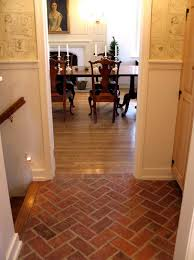 painted tile and brick store brick flooring great white wall painted also faux brick