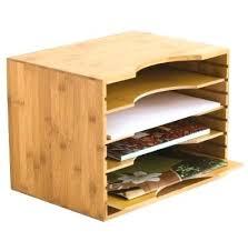 File Desk Organizer Bamboo Desk Organizer Bamboo Multi Tier Desk Organizer Tray Letter