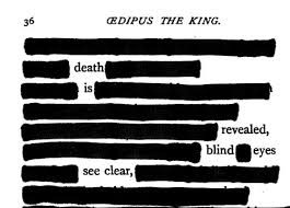Oedipus Blinds Himself Quote Oedipus The King Blackout Poetry This Poetry Shows The