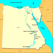 nile river on map map of the nile river