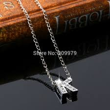 Personalized Charms Bulk Aliexpress Com Buy Wholesale K Letter Word Crystal Pendant