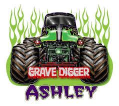 grave digger monster truck flames shirt cutecustomshirts