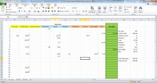 Monthly Expenses Spreadsheet Expense Sheet Rainy Day Saving