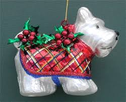 white scottie westies scottie dogs ornaments
