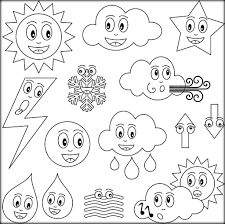 free printable weather coloring pictures for preschool color zini