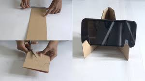 making of mobile stand in 5 minutes using waste material youtube