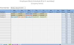 Employee Scheduling Excel Template Printable Work Schedule Templates Printable Work Schedules