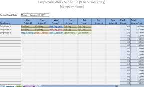 Excel Employee Schedule Template Printable Work Schedule Templates Printable Work Schedules