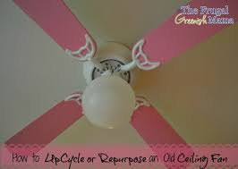 Pink Ceiling Fans by Repurpose A Ceiling Fan Reduce Reuse Recycle Our Homemade Life