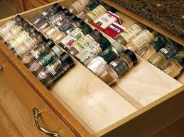 Drawer Inserts For Kitchen Cabinets by Cabinet Kitchen Drawer Spice Organizers Creative Spice Storage