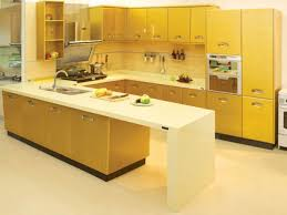Yellow Kitchen With White Cabinets Kitchen Colorful Kitchen Cabinet Yellow Painted Yellow Kitchen