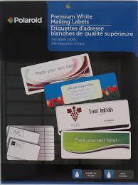 Address Labels 30 Per Sheet Template Amazon Com Polaroid Premium White 30 Up Mailing Labels 2 5 8 X