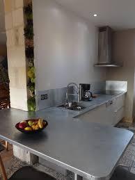 plan de travail cuisine en zinc zinc alimentaire pour plan de travail best vrifi ez que les bords