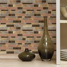 Kitchen Tile Backsplash Images Roommates Modern Long Stone Peel And Stick Tile Backsplash 4 Pack