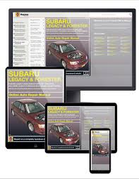 subaru legacy and forester 00 09 haynes online manual including