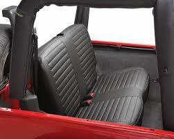 jeep wrangler back bestop rear seat bench cover for 97 02 jeep wrangler tj