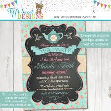 shabby chic tea party invitation tea party birthday bridal