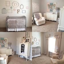 White Shabby Chic Bookcase by Finley Mack U0027s Farmhouse Nursery Drop Cloth Curtains Jenny Lind