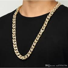 gold chain necklace men images Hip hop mens gold chain necklace fashion jewelry full rhinestone jpg