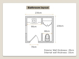 Standard Interior Wall Thickness Bathroom Plan Layout Variation Of Layouts Ppt Video Online Download