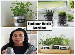 diy how to make an indoor herb garden youtube