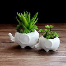 flower pot planters white elephant ceramic pote de vidro for sale